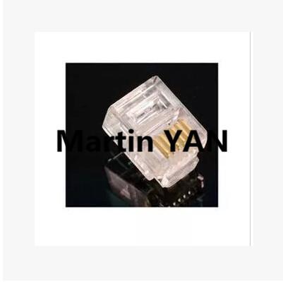 100PCS/LOT Durable 6 Pin RJ11 RJ-11 6P6C Modular Plug Telephone Phone Connector and NC Crystal Head(China (Mainland))