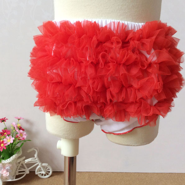 Infant Shorts Baby Girls Pants Kids Briefs Baby Underwear PP Pants Fashion Lace Satin Ruffle Shorst Cotton Baby Diaper Cover(China (Mainland))