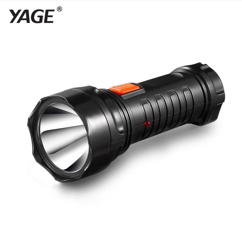 YAGE-3738 Led Flashlight Rechargable Torch Built-in Battery Light 2-mode Lanterna Linterna Lampe Torche EU/USA/UK Plug(China (Mainland))