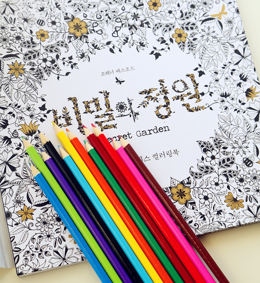 Decompression artifact, secret garden, hand-painting graffiti coloring book with color of lead gifts, birthday Christmas gifts(China (Mainland))