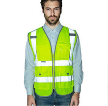 Reflective vest working clothes provides high visibility day & night for running cycling walking etc. warning safety vest(China (Mainland))