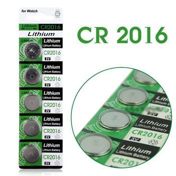 Бесплатная доставка горячей для часов батарея Кнопки 5 Шт. 3 В Литиевыми Клетки Кнопки Батареи CR2016 DL2016 KCR2016 LM2016 BR2016
