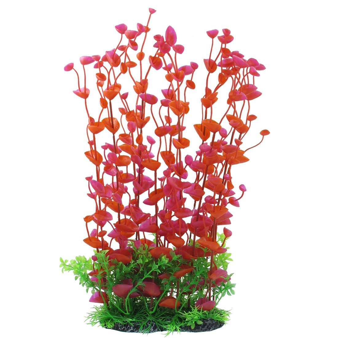 HTHL 5* ! Manmade Plastic Plant Fish Tank, 14.2-Inch Height, Red/Green,IN STOCK