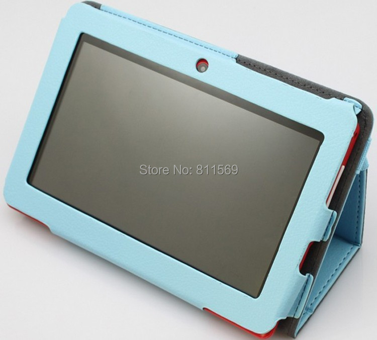 "Free shipping quality Leather case cover for 7"" tablet PC Q88 CPU A33,A31S,A23(China (Mainland))"