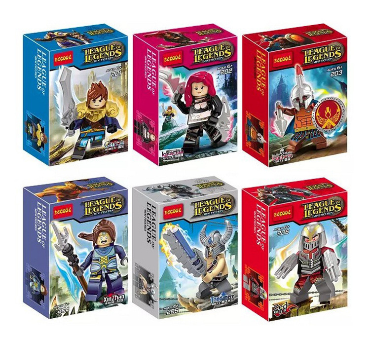 12pcs/set Hot! DECOOL fight inserted blocks Minifigs League games Lego Compatible(China (Mainland))