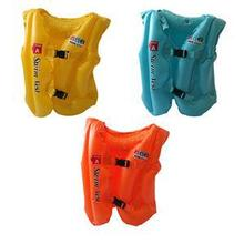 2016 Kids Inflatable Swimming Pool Vest Outdoor sports Wear-resistant Elaborate Summer Children's Life Vest 1PCS Random color(China (Mainland))