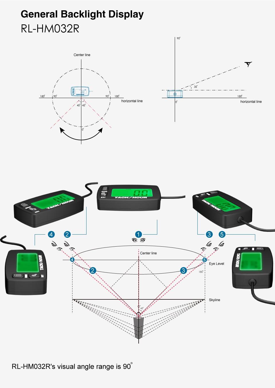 Купить Цифровой ЖК RL-TS002 PT100-20-+ 300 градусов Цельсия tach счетчика theomometer temp метр для бензин трактор морской мотоциклов