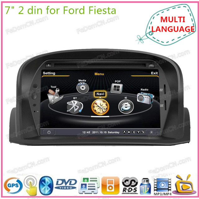 7 cran tactile 2 din voiture lecteur dvd gps navigation pour ford fiesta num rique voiture. Black Bedroom Furniture Sets. Home Design Ideas