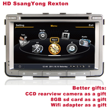 HD SsangYong Rexton in Dash Car DVD BT DVR WIFI 3G CCD Camera SD Card for free Better Quality Better Service Free Shipping+Gifts(China (Mainland))
