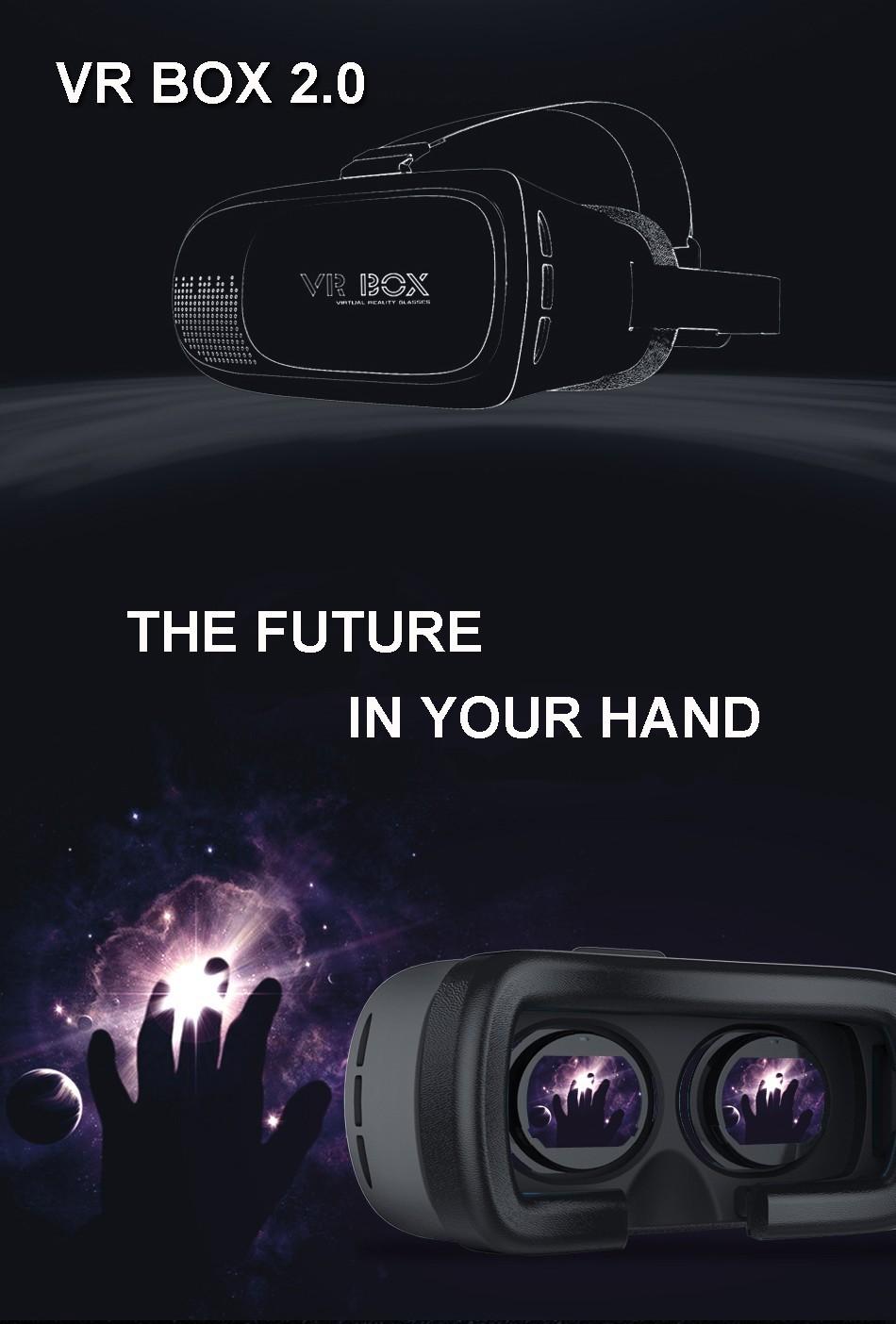 """ถูก ร้อนG Oogleกระดาษแข็งH Eadmount VRกล่อง2.0รุ่นVRเสมือนแว่นตา3Dสำหรับ3.5"""" -6.0"""" มาร์ทโฟน+บลูทูธควบคุมระยะไกล"""