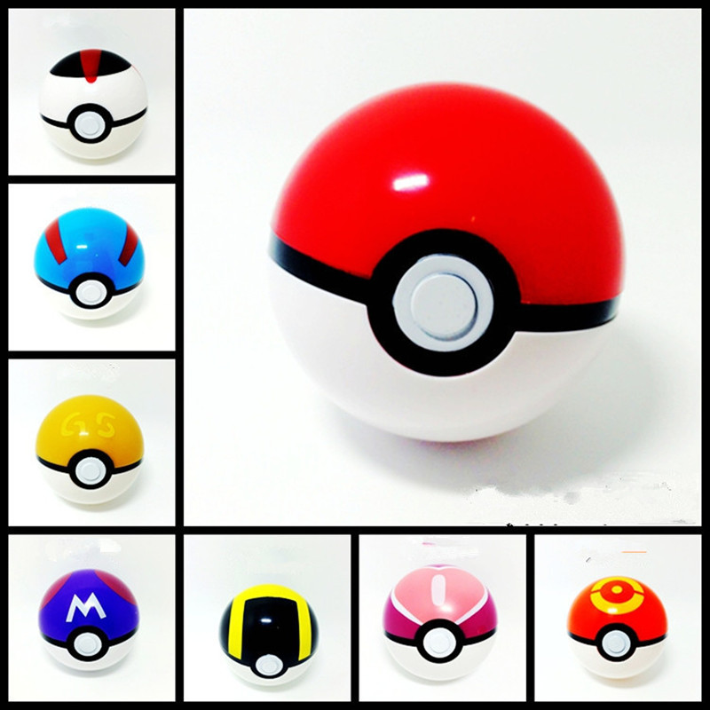 A Set 9 pcs Pokemon Ball font b Anime b font Action Figures Pokemon PokeBall Super