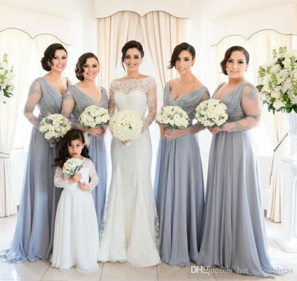 Popular long lace long sleeve dress bridesmaid buy cheap long lace long lace long sleeve dress bridesmaid ombrellifo Images