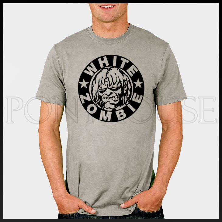 WHITE ZOMBIE ROCK N ROLL T-shirt cotton Lycra top(China (Mainland))