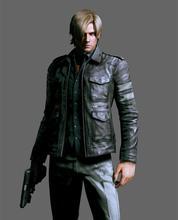 2014 Hot Sale Resident Evil 6 Game Leon Kennedy Jacket Gentlemen Cavalier PU Leather Jacket Motorcycle Fashion Outerwear Coat(China (Mainland))