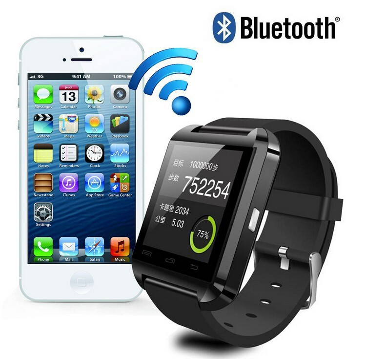 Smart Bluetooth Watch MTK WristWatch Watches U8 U Watch for iPhone 4/4S/5/5S Samsung S4/Note 2/3 Android Phone smartphones(China (Mainland))