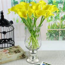 10pcs/lot Real Touch Lily Calla PVC Artificial Flower Bouquets Home Wedding Decoration Bridal Decor 6 Colors Flowers QB671574(China (Mainland))