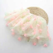 2016 New Kids Girls Lace Floral Skirts Tutu Party Skirts Candy Color Ruffles Skirts(China (Mainland))
