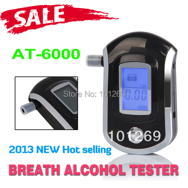 High quality AT-6000 alcohol tester high precision digital portable wine the body of alcohol testing instrument Free Shipping(China (Mainland))