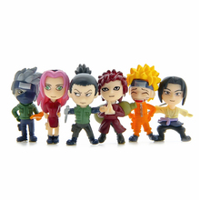 Anime Naruto Gaara Uzumaki Naruto 6pcs Set DIY Micro Landscape Mini Figure Doll 16040616