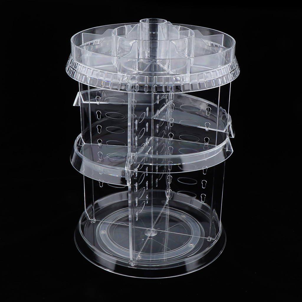 Makeup Organizer 360 Rotating Multi-Function Plastic Cosmetic Storage Box Make Up Cosmetic Holder Organizers