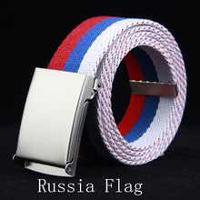 2016 Новая Мода Белый Синий Красный Россия Флаг Холст Полосатый Пояс(China (Mainland))