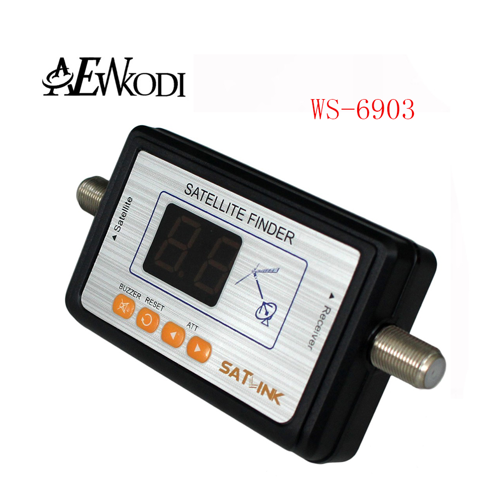 Anewkodi WS 6903 satellite receiver for WS-6903 Satlink Digital Satellite Signal Finder Directv Meter LCD Buzzle for TV(China (Mainland))