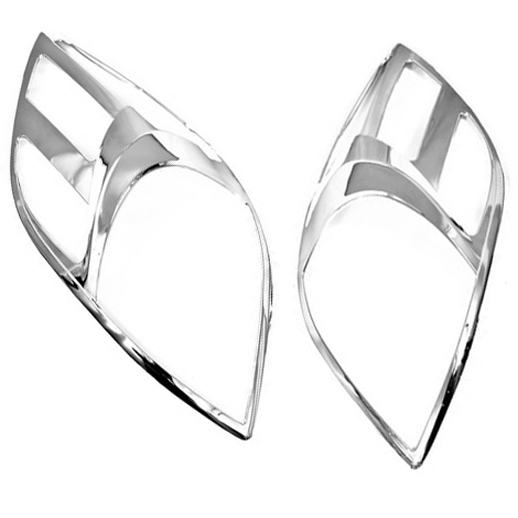 Chrome Styling Head Light Cover for Toyota Yaris Hatchback 05-08(China (Mainland))