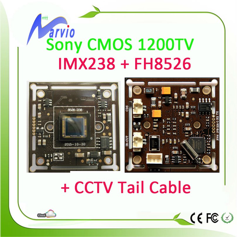 1200TVL Analog CCTV Security Module Sony IMX238 + 8526 Good Night Vision Effection + CCTV Surveillance Cable(China (Mainland))
