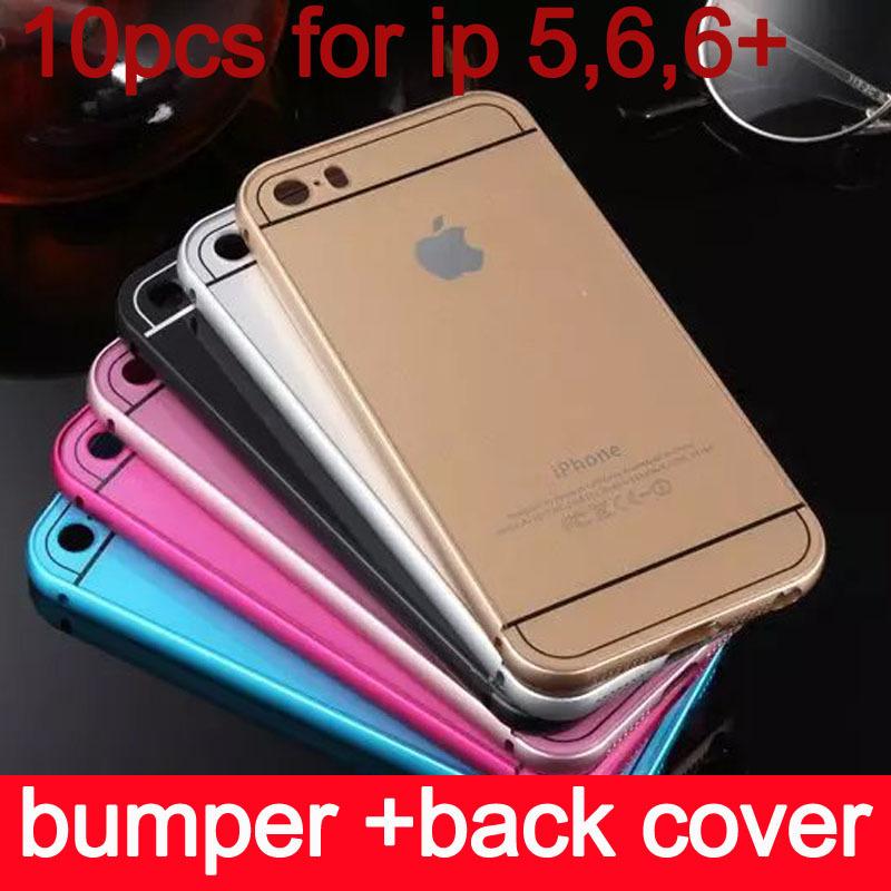 Здесь можно купить  (10pcs/lot) Metal Aluminum Bumper Frame +Acrylic Back Cover for Apple iphone 6 Accessories Hybrid Luxury Case for iphone 6 Plus  Телефоны и Телекоммуникации