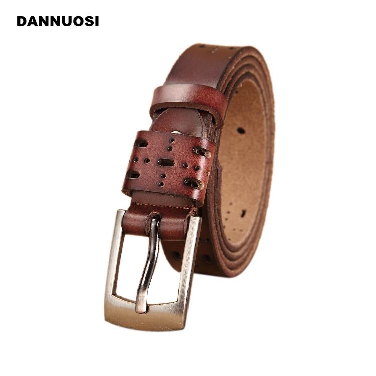 [DANNUOSI] Ms. 2016 new retro leather belt 100% pure leather belt leisure Pin buckle belt 70cm-120cm(China (Mainland))