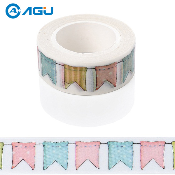 Hot style Japanese printed decorative colorful office adhesive paper washy tape for gift packing(China (Mainland))