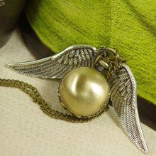 Drop shipping Necklace Pendant Bronze golden Shell wing Chain Antique women man boy girl lady new