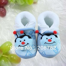 Free shipping new arrival Russia  winter warm blue newborn baby toddler shoes(China (Mainland))