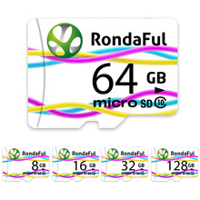 Buy Rondaful Full Capacity Memory Card 128GB Micro Sd Card 64GB/32GB/16GB Class10 Microsd Card High Speed for Phones MP3 Memory Card for $6.91 in AliExpress store