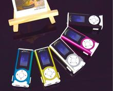 200PCS Clip mp3 player with LED Light with screen mp3 player built-in speaker support tf sd memory card DHL Free shipping(China (Mainland))