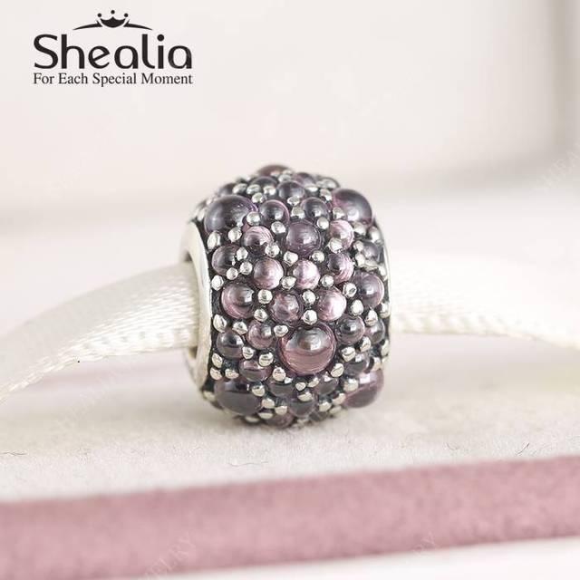 Мерцающие капли фантазии розовый Cz подвески 2016 весенняя коллекция серебро 925 изящные ювелирные Fit бусины браслеты DIY BD357