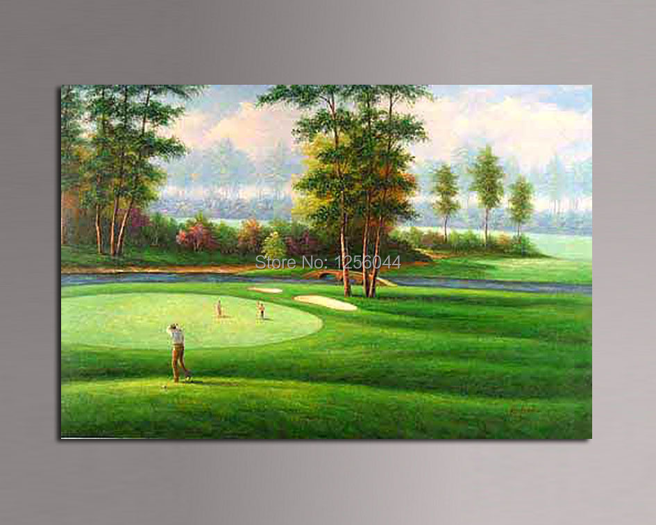 Famous Paintings Pictures Decor High Quality Modern Abstract Wall Canvas Art Golf Oil Painting