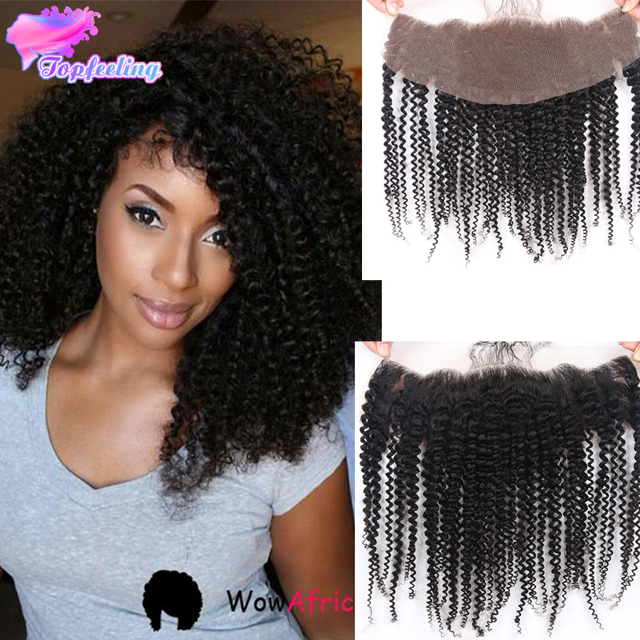 Full Frontal Lace Closure Kinky Curly Peruvian Human Hair 13*4 Kinky Curcly Lace Frontal Closure Bleached Knot Full Lace Frontal<br><br>Aliexpress