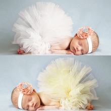 2015 Tulle Tutu Newborn With Flower Headband Baby Girls Tutu Set Toddler Christening Princess Tutu Skirt Photo Prop Skirt(China (Mainland))