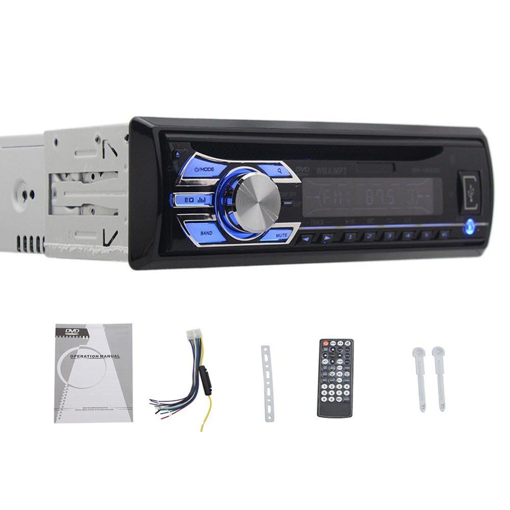 Фотография Latest Version! Single DIN Car Stereo Radio With MP3 DVD CD Playback FM AM Radio for universial Car