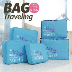 Five-piece garment factory direct admission package travel essential travel pouch Wujiantao trip(China (Mainland))