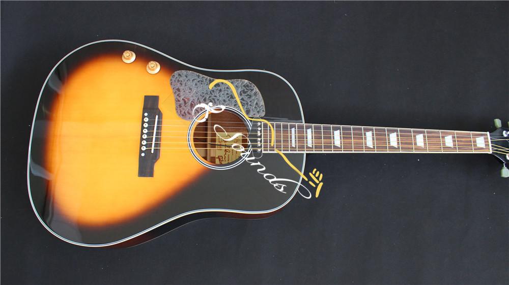 free shipping New left handed acoustic guitar J160-E acoustic electric guitar John Lennon edition J160 lefty style In Sunburst<br><br>Aliexpress