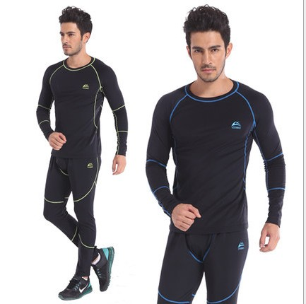 2014 new men's winter sports thermal underwear / sets compression movement quick-drying