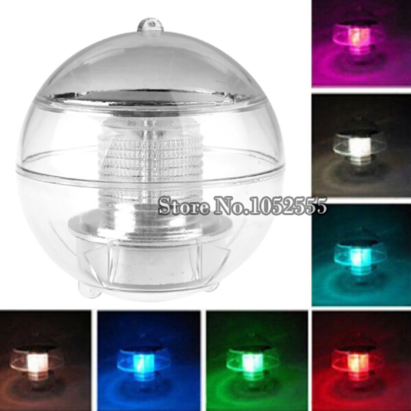 3pcs/lot Solar Floating Lamp LED Water Pond Lights Outdoor Colorful Ball swimming pool Light for Decoration for Kids Gifts HC214(China (Mainland))