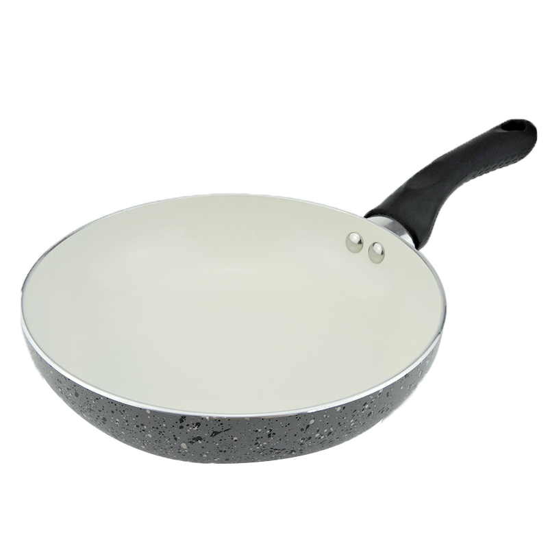 Bester 20cm marble frying pan ceramic flat bottom pot eco-friendly omelettes smoke(China (Mainland))