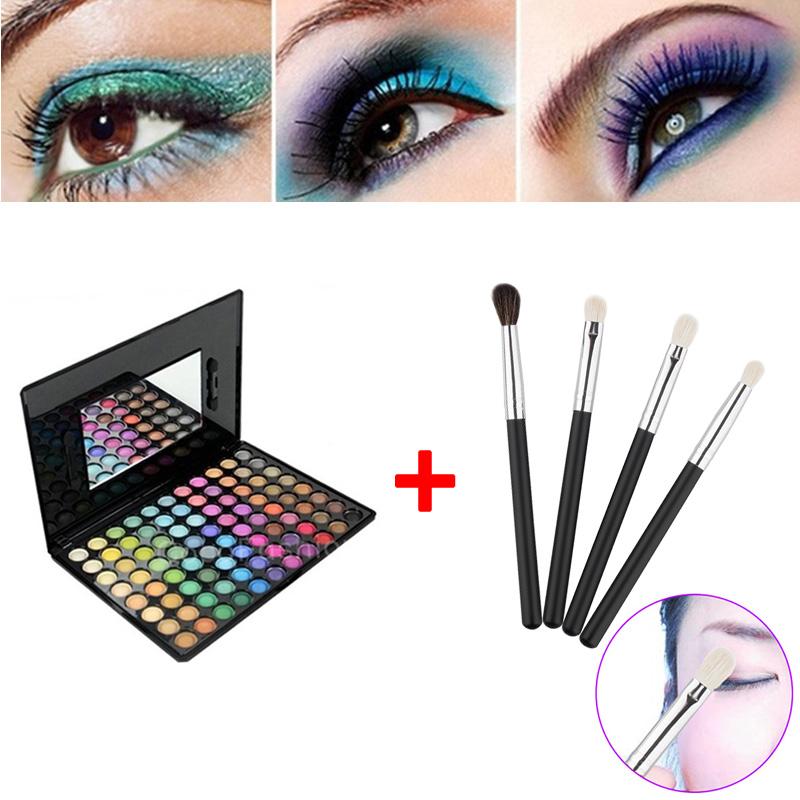 2016 Eyeshadow Kit 88 Color Shadow Palette Make Up Eyeshadows + 4pcs Eye Foundation Blending Brush 88 ETS88