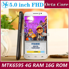 Original Smartphone A806 MTK6595 Octa Core 3G 5.0 inch 1080P 4GB RAM 16GB ROM Dual Sim 13.0MP Camera android cell Mobile Phone