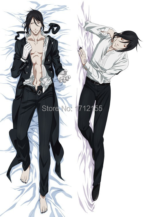 Male 150cm Japanese Anime Dakimakura Black Butler Sebastian Michae BL pillows decorative Pillow Case Cover Hugging Body Bedding - Supermarket Online store