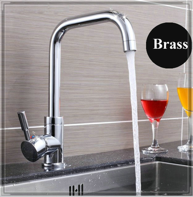 High hot and cold water brass kitchen faucet bathroom faucets price<br><br>Aliexpress