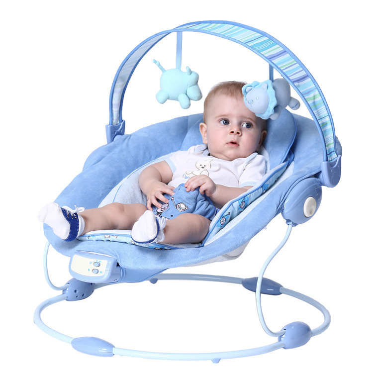 Free shipping Blue luxury baby cradle swing electric baby rocking chair chaise lounge cradle seat rotating baby bouncer swing(China (Mainland))